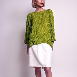Vintage 80s white high waist minimal skirt